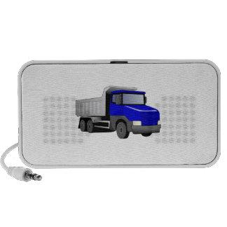 Camión volquete azul notebook altavoces