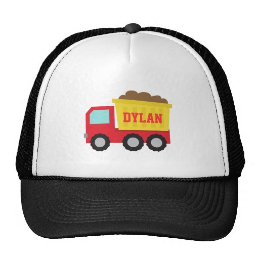 Camión volquete colorido, vehículo de la construcc gorros