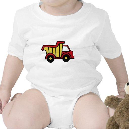 Camión volquete de la diversión de la construcción traje de bebé