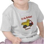 Camión volquete de la diversión de la construcción camiseta