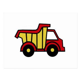Camión volquete de la diversión de la construcción postales