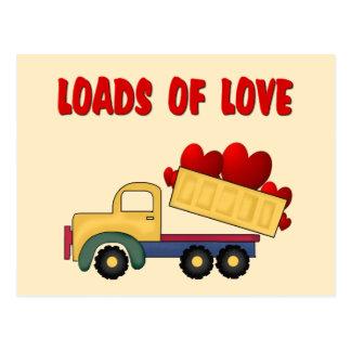 Camión volquete de la tarjeta del día de San Postal