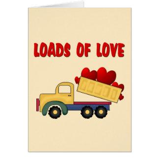 Camión volquete de la tarjeta del día de San Valen