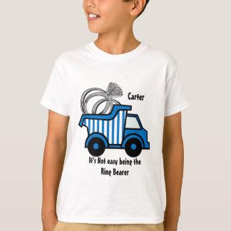 Camión volquete del azul del portador de anillo playera