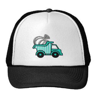 Camión volquete del portador de anillo gorras