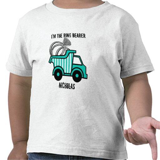 Camión volquete del portador de anillo camiseta