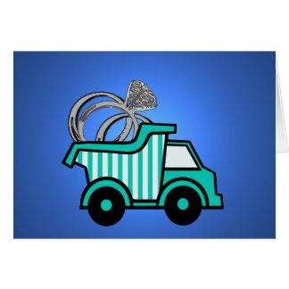 Camión volquete del portador de anillo tarjeta pequeña
