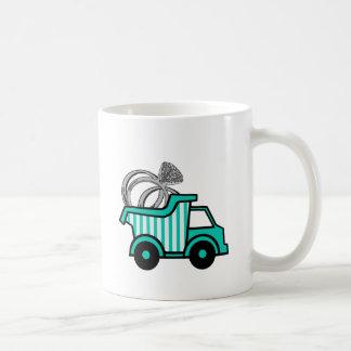 Camión volquete del portador de anillo tazas de café