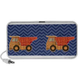 Camión volquete en el galón del zigzag - azul sistema altavoz