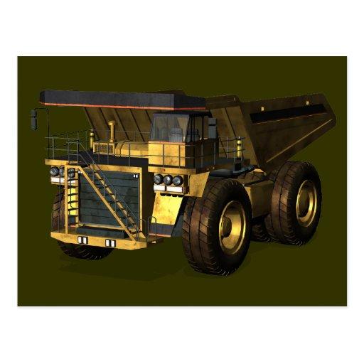Camión volquete gigante postales