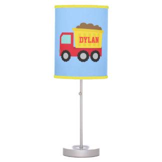 Camión volquete lindo, vehículo de la construcción lámpara de escritorio