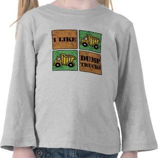 Camión volquete camisetas