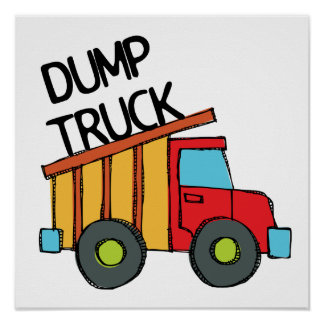 Camión volquete póster