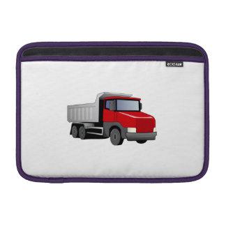 Camión volquete rojo fundas MacBook