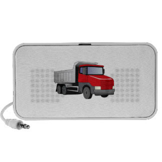 Camión volquete rojo iPhone altavoces