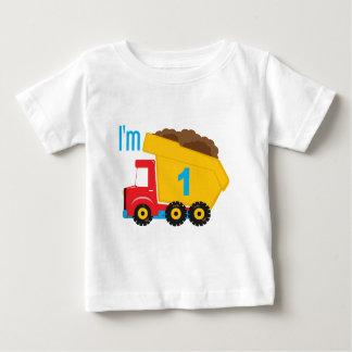 Camión volquete soy 1 playera de bebé