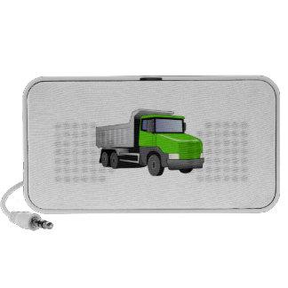 Camión volquete verde mp3 altavoz