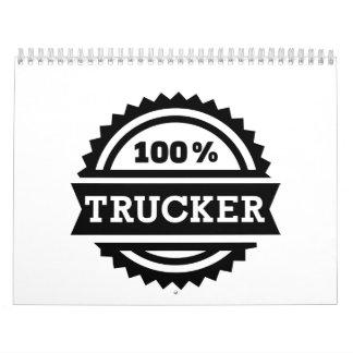 Camionero 100% calendario de pared