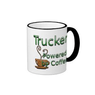 Camionero accionado por el café taza a dos colores