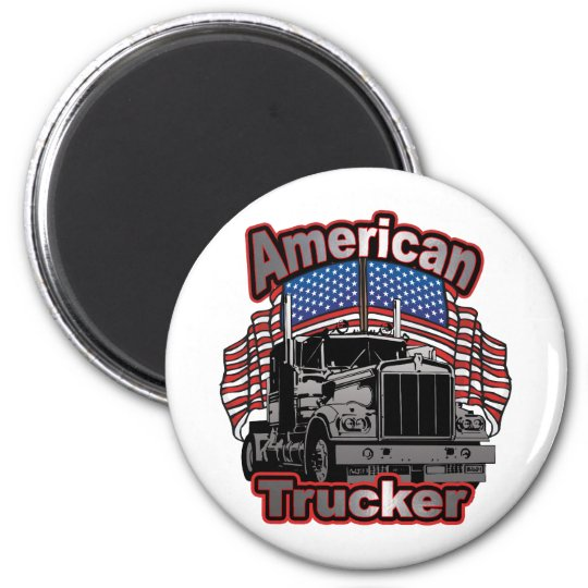Camionero de América Imán Redondo 5 Cm