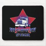 Camionero de la estrella de la carretera tapetes de ratones