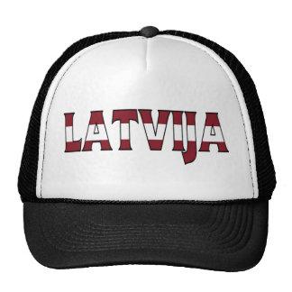 Camionero de Letonia Gorros Bordados