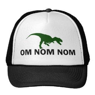 Camionero de Rawr del dinosaurio de OM Nom Nom Gorras De Camionero