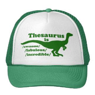 Camionero del dinosaurio del tesauro gorro