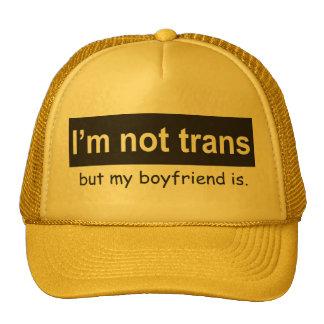 Camionero del novio del transporte gorras de camionero