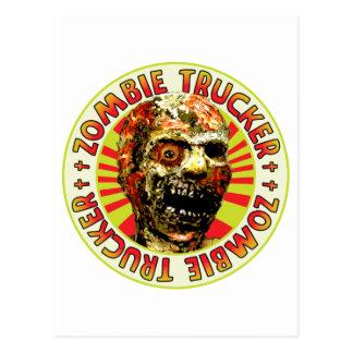 Camionero del zombi tarjeta postal