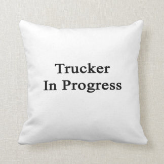 Camionero en curso almohada