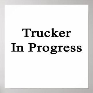 Camionero en curso poster
