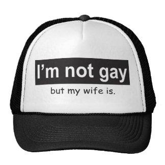 Camionero gay de la esposa gorro de camionero