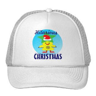 camionero hilarante Hat♥♪ del pollo ♫♥Merry de San Gorras De Camionero