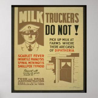 Camioneros de la leche posters