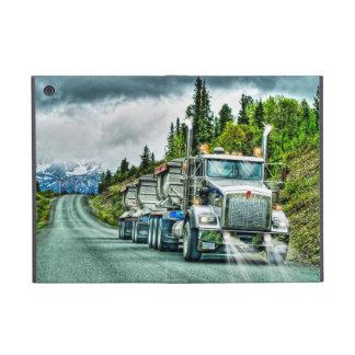 Camioneros de plata camión y carretera de la grava iPad mini fundas