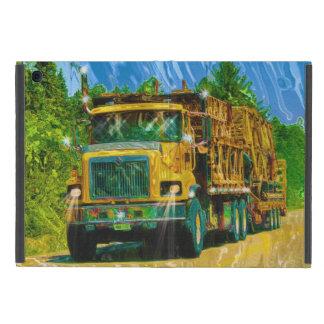 Camioneros grandes amarillos camión y carretera iPad mini funda