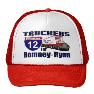 Camioneros para el GORRA de Romney Ryan