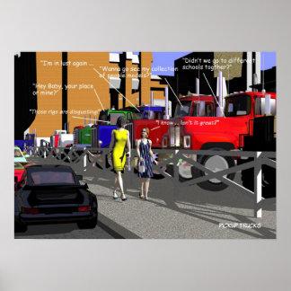 Camioneros - Teamsters - camionetas pickup Poster