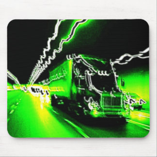 Camioneros verdes malos mouse pad