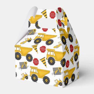 Camiones de la construcción, caja de regalo, caja para regalos