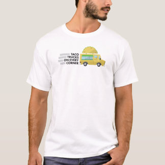Camiones del Taco en cada camisa de la esquina