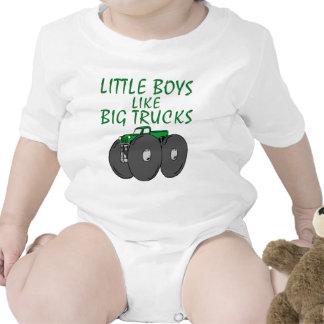 Camiones grandes trajes de bebé