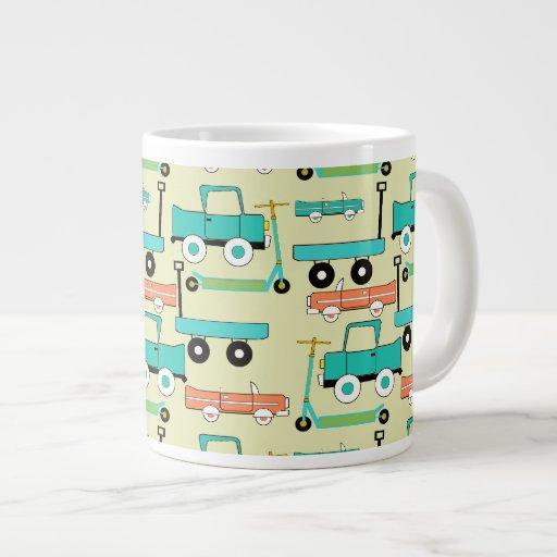 Camiones retros de los carros de los coches de las taza extra grande