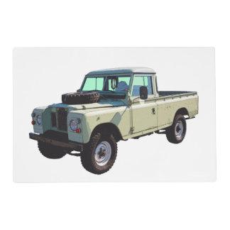 Camioneta pickup 1971 de Land Rover Salvamanteles
