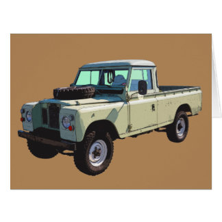 Camioneta pickup 1971 de Land Rover Tarjeta De Felicitación Grande