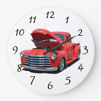 Camioneta pickup clásica de Chevrolet de los años Reloj