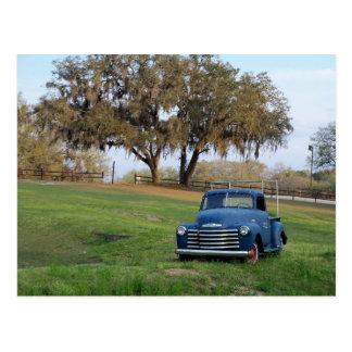 Camioneta pickup del prado del país viejo de la ca tarjetas postales