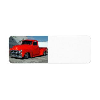 Camioneta pickup modificada para requisitos partic etiquetas de remite
