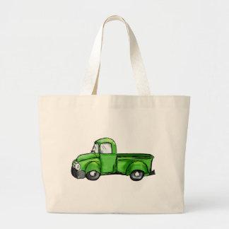 Camioneta pickup verde vieja bolsa tela grande